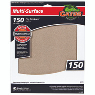 Ali 4442 Gator 9 By 11 Inch Multi Surface Sandpaper 150 Grit Aluminum Oxide 5 Sheets
