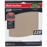 Ali 4443 Gator 9 By 11 Inch Multi Surface Sandpaper 220 Grit Aluminum Oxide 5 Sheets