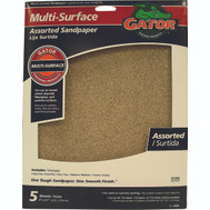 Ali 4444 Gator 9 By 11 Inch Multi Surface Sandpaper Assorted Grits Aluminum Oxide 5 Sheets