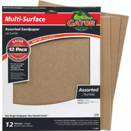 Ali 4445 Gator 9 By 11 Inch Multi Surface Sandpaper Assorted Grits Aluminum Oxide 15 Sheets