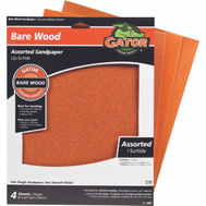 Ali 4461 Gator 9 By 11 Inch Bare Wood Sandpaper Assorted Grits Garnet 4 Sheets