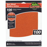 Ali 4463 Gator 9 By 11 Inch Bare Wood Sandpaper 100 Grit Garnet 5 Sheets