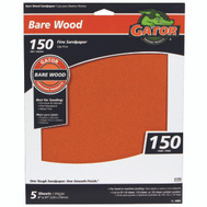 Ali 4464 Gator 9 By 11 Inch Bare Wood Sandpaper 150 Grit Garnet 5 Sheets