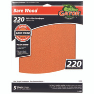 Ali 4465 Gator 9 By 11 Inch Bare Wood Sandpaper 220 Grit Garnet 5 Sheets