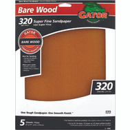Ali 4466 Gator 9 By 11 Inch Bare Wood Sandpaper 320 Grit Garnet 5 Sheets