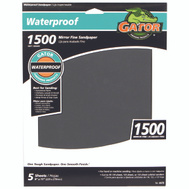 Ali 4470 Gator 9 By 11 Inch Waterproof Sandpaper 1500 Grit Silicon Carbide 5 Sheets