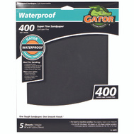 Ali 4472 Gator 9 By 11 Inch Waterproof Sandpaper 400 Grit Silicon Carbide 5 Sheets