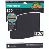 Ali 4473 Gator 9 By 11 Inch Waterproof Sandpaper 320 Grit Silicon Carbide 5 Sheets