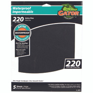 Ali 4474 Gator 9 By 11 Inch Waterproof Sandpaper 220 Grit Silicon Carbide 5 Sheets