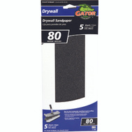 Ali 4486 Gator 4-1/4 By 11 1/4 Inch Drywall Sandpaper 80 Grit Coarse Silicon Carbide 5 Sheets