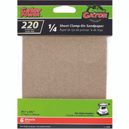Ali 5030 Gator 4-1/2 By 5-1/2 Inch Multi Surface Sandpaper 220 Grit Aluminum Oxide 6 Sheets