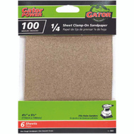 Ali 5032 Gator 4-1/2 By 5-1/2 Inch Multi Surface Sandpaper 100 Grit Aluminum Oxide 6 Sheets