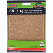Ali 5033 Gator 4-1/2 By 5-1/2 Inch Multi Surface Sandpaper 60 Grit Aluminum Oxide 6 Sheets