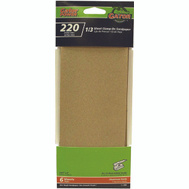 Ali 5040 Gator 3-2/3 By 9 Inch Multi Surface Sandpaper 220 Grit Aluminum Oxide 6 Sheets