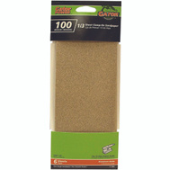 Ali 5042 Gator 3-2/3 By 9 Inch Multi Surface Sandpaper 100 Grit Aluminum Oxide 6 Sheets