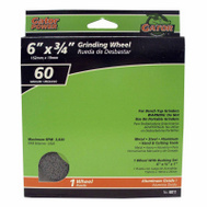 Ali 6011 Gator 6 By 3/4 Inch Benchtop Grinding Wheel With Bushing 60 Grit Aluminum Oxide