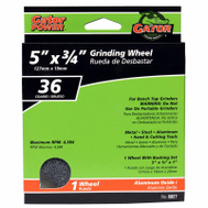 Ali 6027 Gator 5 By 3/4 Inch Benchtop Grinding Wheel With Bushing 36 Grit Aluminum Oxide