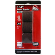 Ali 6087 Gator 1-1/2 By 1-1/2 Inch Drum Sander Refill 80 Grit Aluminum Oxide 3 Sleeves