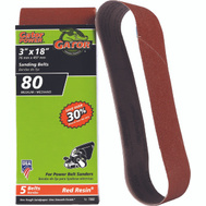 Ali 7032 Gator 3 By 18 Inch Aluminum Oxide Sanding Belt 80 Grit Medium 5 Pack