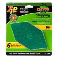Ali 7202 Gator Zip Sander Refill Sanding Sheets Hook And Loop 80 Grit Aluminum Oxide 6 Sheets