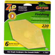 Ali 7211 Gator Zip Sander Refill Sanding Sheets Hook And Loop 220 Grit Aluminum Oxide 6 Sheets