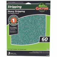 Ali 7260 Gator 9 By 11 Inch Premium Sandpaper 60 Grit Aluminum Oxide 3 Sheets