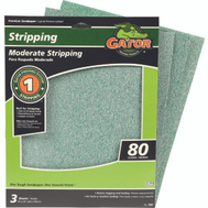 Ali 7261 Gator 9 By 11 Inch Premium Sandpaper 80 Grit Aluminum Oxide 3 Sheets