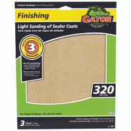 Ali 7267 Gator 9 By 11 Inch Premium Sandpaper 320 Grit Aluminum Oxide 3 Sheets