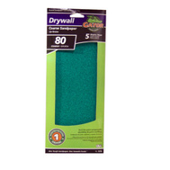 Ali 7275 Gator 4-1/4 By 11 1/4 Inch Drywall Sandpaper 80 Grit Coarse Aluminum Oxide 5 Sheets