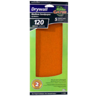 Ali 7276 Gator 4-1/4 By 11 1/4 Inch Drywall Sandpaper 120 Grit Medium Fine Aluminum Oxide 5 Sheets