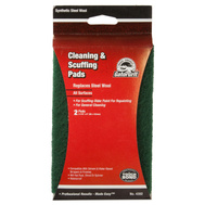 Ali 7324 Gator 3-7/8 By 6 Inch Cleaning And Scuffing Pad Green 0 Gauge Synthetic Steel Wool 2 Pads
