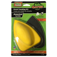 Ali 7330 Gator 3 1/2 By 5 Inch Mouse Detail Hand Sanding Kit Hook And Loop With 12 Sheets