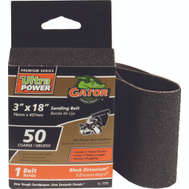 Ali 7772 Gator 3 By 18 Inch Powerplus Zirconium Oxide Sanding Belt 50 Grit Coarse