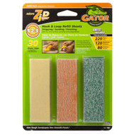Ali 7801 Gator Micro Zip Refill Sanding Sheets Assorted Grits 30 Sheets