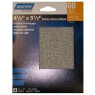 Ali 50252-038 Norton 4-1/2 By 5-1/2 Inch Premium Sanding Sheet Clamp On 60 Grit 4 Pack