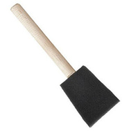 Jen 8500-D1 Poly Brush Poly Foam Wood Handle Brush 1 Inch