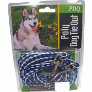 Boss Pet Q241500099 Tie Out Dog Poly Rope 15Ft Pdq