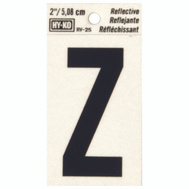 Hy Ko RV-25/Z RV Series 2 Inch Bend And Peel Black On Silver Reflective Vinyl Letter Z