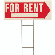Hy Ko RS-806 10 Inch By 24 Inch For Rent 2 Sided Lawn Sign