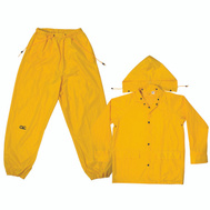 Custom Leathercraft R102X Climate Gear 3 Piece Rain Suit Yellow Polyester Xlarge