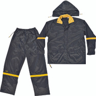 Custom Leathercraft R103X Climate Gear Deluxe Nylon 3 Piece Rain Suit Extra Large