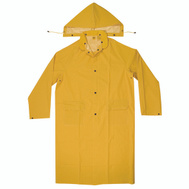 Custom Leathercraft R105M Climate Gear Coat Trench Heavy Pvc 2Pc Med