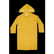 Custom Leathercraft R105L Climate Gear Heavyweight Pvc Trench Coat With Hood Large