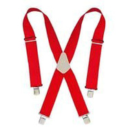 Custom Leathercraft 110RED Heavy Duty Web Suspender Red