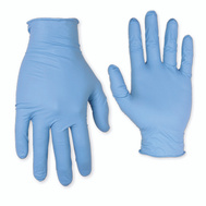 Custom Leathercraft 2320X Nitrile Disposable Powdered Gloves Extra-Large 100 Count