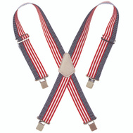 Custom Leathercraft 110USA Suspender Web Hvy Dty Usa Flag