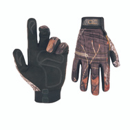 Custom Leathercraft M125L Back Country Camo Synthetic Leather Gloves Large