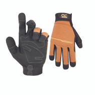 Custom Leathercraft 124L Workright Padded Synthetic Palm Gloves Extra-Large