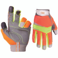 Custom Leathercraft 128M Hi-Visibility Synthetic Leather Gloves Medium