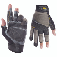 Custom Leathercraft 140L Fingerless Pro Framer Gloves Large